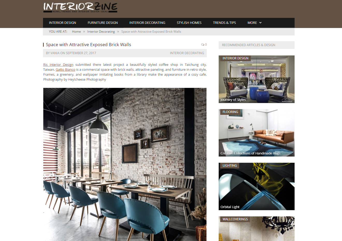 Space with Attractive Exposed Brick Walls